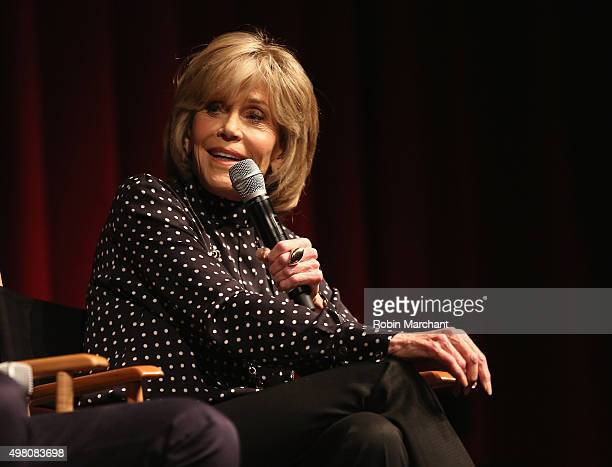 Jane Fonda attends The Academy Of Motion Picture Arts And Sciences Hosts An Official Academy Screening Of YOUTH on November 20 2015 in New York City