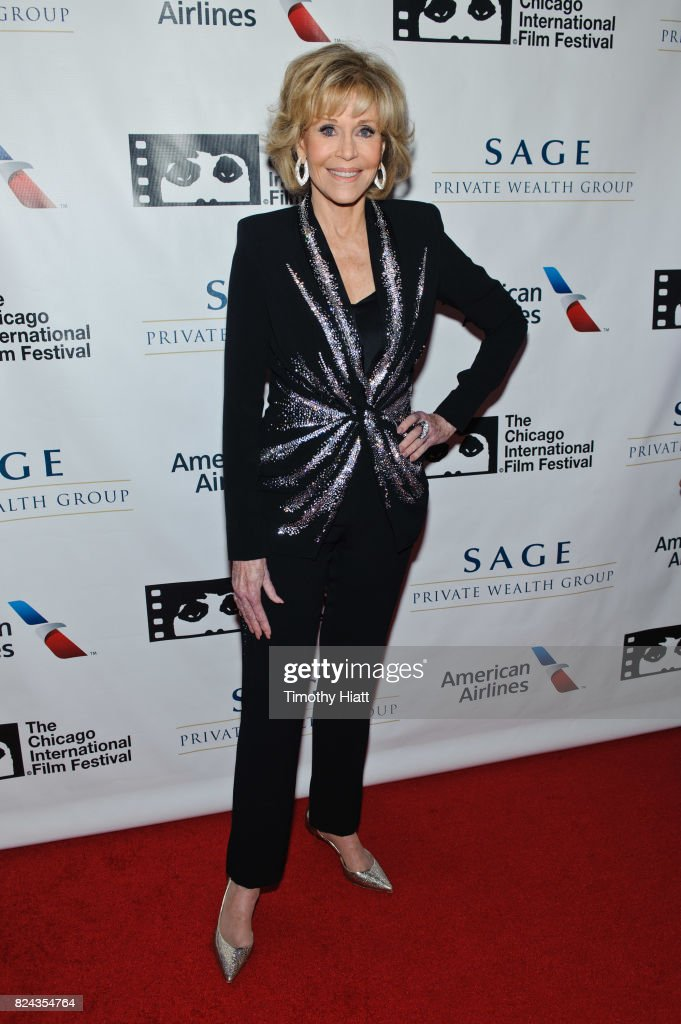 Jane Fonda attends the Cinema/Chicago Honors ceremony on her behalf at Radisson Blu Aqua Hotel on July 29, 2017 in Chicago, Illinois.