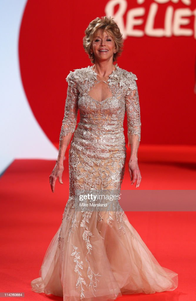 Jane Fonda attends the ' Fashion For Relief Japan Fundraiser' during the 64th Annual Cannes Film at Forville Market on May 16, 2011 in Cannes, France.