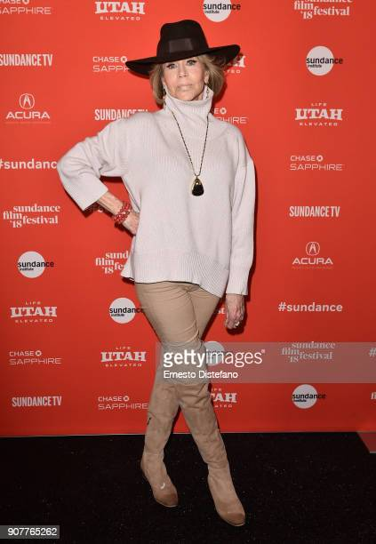 Jane Fonda attends the 'Jane Fonda In Five Acts' Premiere during the 2018 Sundance Film Festival at The Marc Theatre on January 20 2018 in Park City...