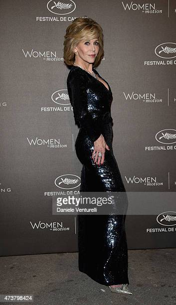 Jane Fonda attends the Kering Official Cannes Dinner at Place de la Castre on May 17, 2015 in Cannes, France.