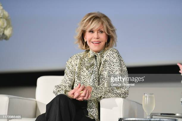 Jane Fonda attends the L'Oréal In Conversation with Jane Fonda during the 2019 Toronto International Film Festival held at Hotel X on September 11...