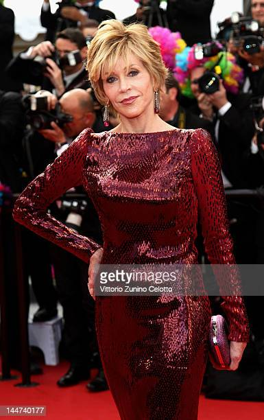 Jane Fonda attends the 'Madagascar 3 Europe's Most Wanted' Premiere during the 65th Annual Cannes Film Festival at Palais des Festivals on May 18...