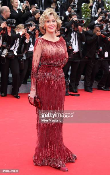 """Jane Fonda attends the opening ceremony and """"Grace of Monaco"""" premiere at the 67th Annual Cannes Film Festival on May 14, 2014 in Cannes, France."""
