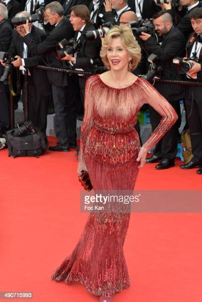Jane Fonda attends the opening ceremony and Grace of Monaco premiere at the 67th Annual Cannes Film Festival at Palais des Festivals on May 14 2014...