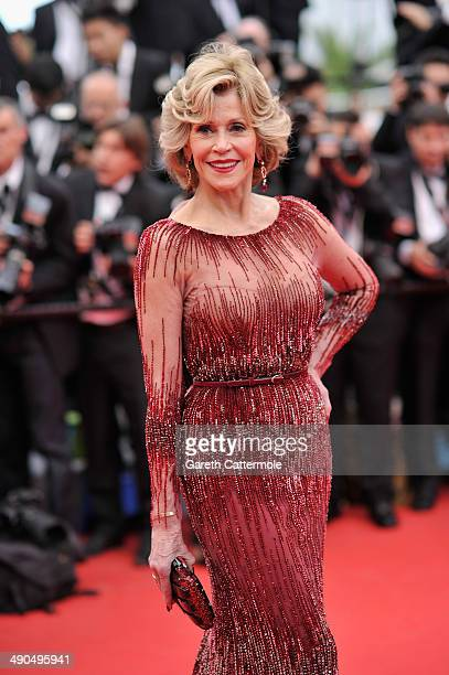 Jane Fonda attends the Opening ceremony and the Grace of Monaco Premiere during the 67th Annual Cannes Film Festival on May 14 2014 in Cannes France