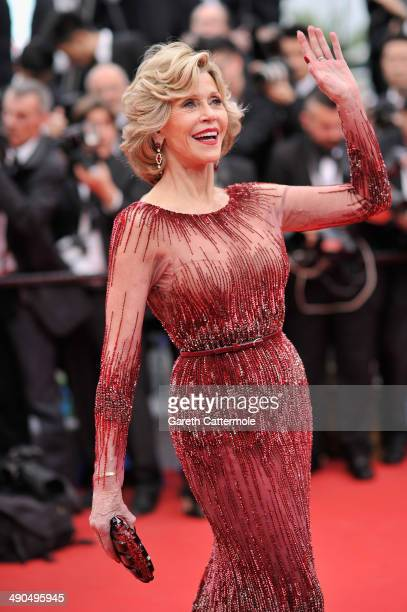 """Jane Fonda attends the Opening ceremony and the """"Grace of Monaco"""" Premiere during the 67th Annual Cannes Film Festival on May 14, 2014 in Cannes,..."""