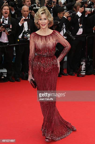 Jane Fonda attends the Opening Ceremony and the 'Grace of Monaco' premiere during the 67th Annual Cannes Film Festival on May 14 2014 in Cannes France