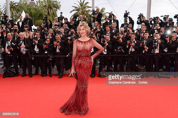 Jane Fonda attends the Opening Ceremony and the 'Grace of Monaco' premiere during the 67th Cannes Film Festival