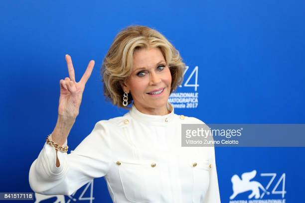 Jane Fonda attends the 'Our Souls At Night' photocall during the 74th Venice Film Festival at Sala Casino on September 1 2017 in Venice Italy