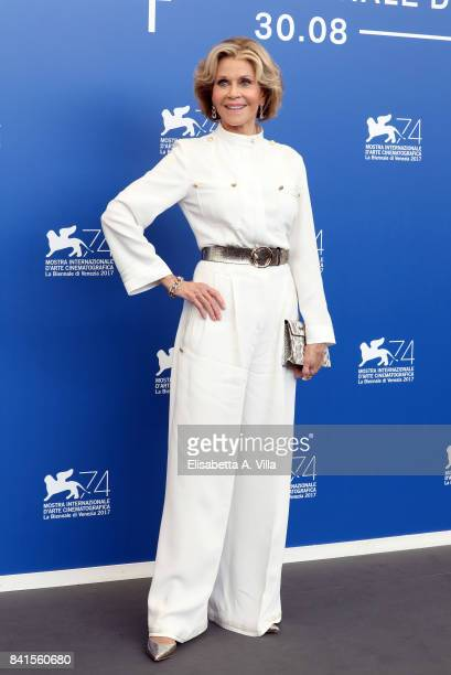 Jane Fonda attends the 'Our Souls At Night' photocall during the 74th Venice Film Festival on September 1, 2017 in Venice, Italy.