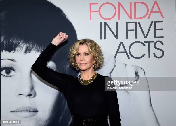 Jane Fonda attends the premiere of HBO documentary film Jane Fonda In Five Acts at Hammer Museum on September 13 2018 in Los Angeles California