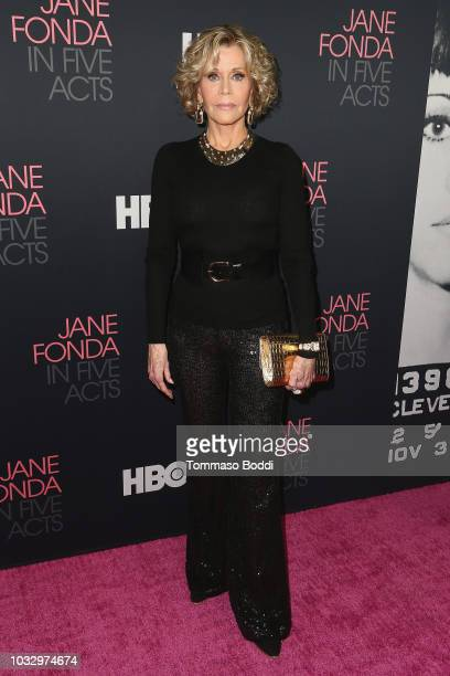 """Jane Fonda attends the Premiere Of HBO's """"Jane Fonda In Five Acts"""" at Hammer Museum on September 13, 2018 in Los Angeles, California."""