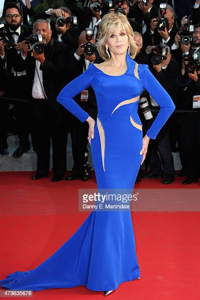 Jane Fonda attends the Premiere of 'The Sea Of Trees' during the 68th annual Cannes Film Festival on May 16 2015 in Cannes France