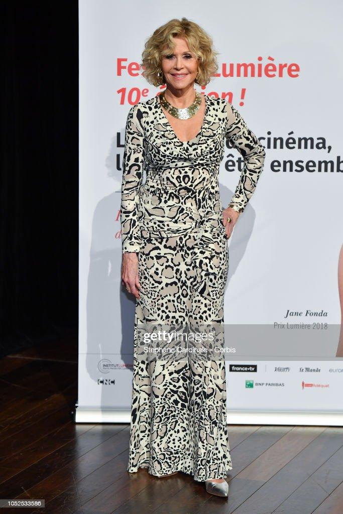 Jane Fonda Receives the Prix Lumiere 2018 - 10th Film Festival Lumiere : Nachrichtenfoto