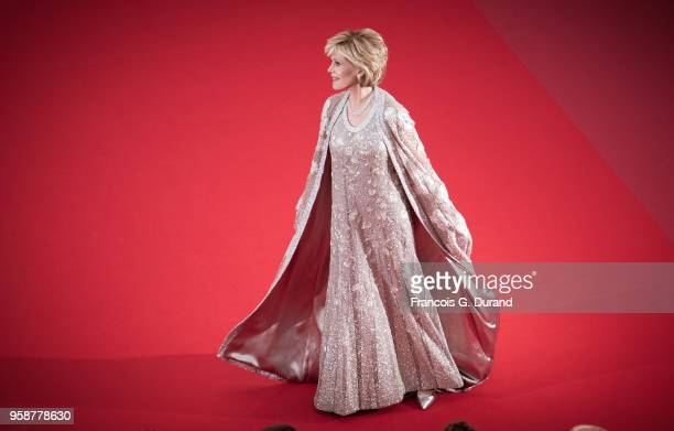 Jane Fonda attends the screening of 'BlacKkKlansman' during the 71st annual Cannes Film Festival at Palais des Festivals on May 14 2018 in Cannes...