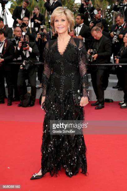 Jane Fonda attends the screening of 'Sink Or Swim ' during the 71st annual Cannes Film Festival at Palais des Festivals on May 13 2018 in Cannes...