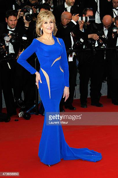 Jane Fonda attends the Sea Of Trees premiere during the 68th annual Cannes Film Festival on May 16 2015 in Cannes France