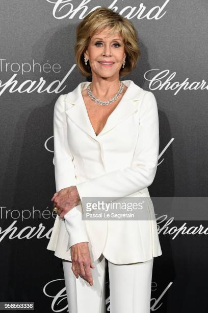 Jane Fonda attends the Trophee Chopard during the 71st annual Cannes Film Festival at Hotel Martinez on May 14 2018 in Cannes France