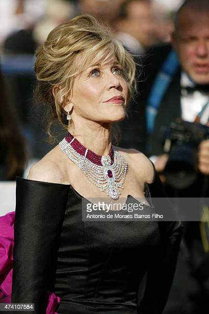 Jane Fonda attends the 'Youth' premiere during the 68th annual Cannes Film Festival on May 20 2015 in Cannes France