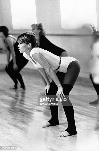 Jane Fonda doing aerobics