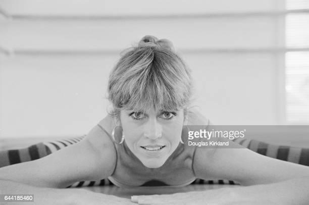 Jane Fonda Doing the Splits