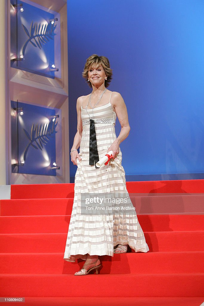 Jane Fonda during 2007 Cannes Film Festival - Palme D'Or - Ceremony at Palais des Festivals in Cannes, France.
