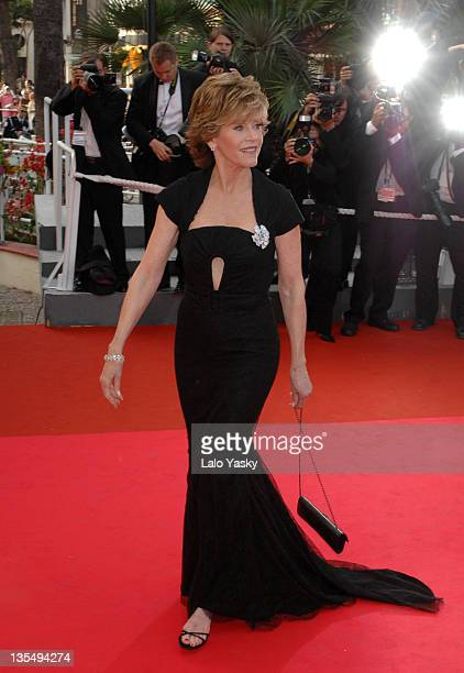 "Jane Fonda during 2007 Cannes Film Festival - ""Promise Me This"" Premiere at Palais des Festivals in Cannes, France."