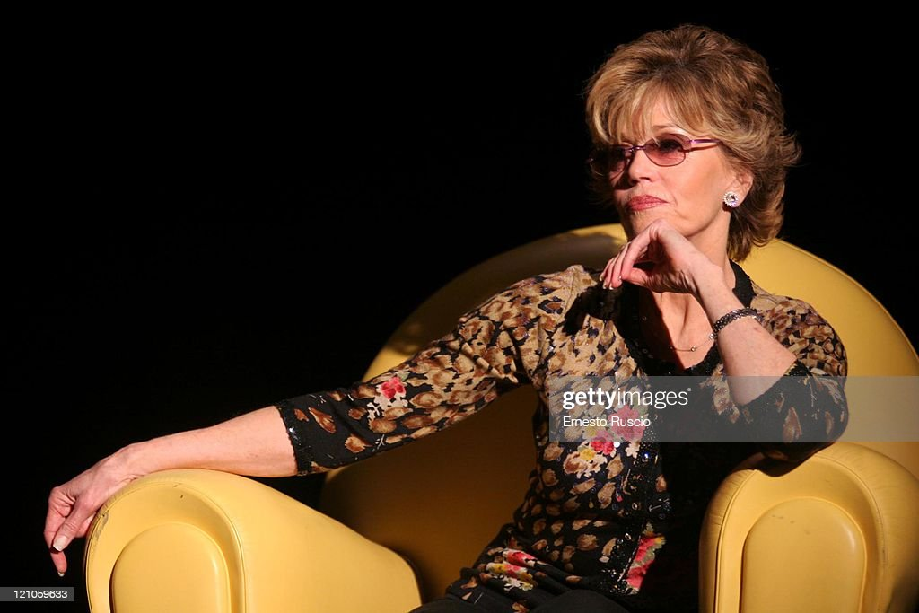Jane Fonda during Jane Fonda Signs Her Book 'La Mia Vita Finora' at the Auditorium Della Musica in Rome - October 21, 2005 at Auditorium Della Musica in Rome, Italy.