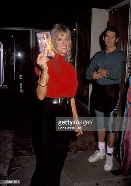 Jane Fonda during Jane Fonda Workout Video Release October 2 1990 at Jane Fonda's Workout Studio in Beverly Hills California United States