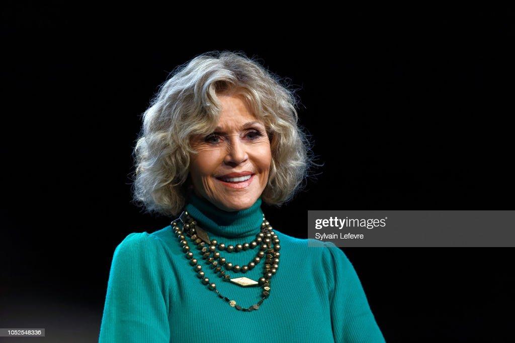 Jane Fonda's Masterclass - 10th Film Festival Lumiere : News Photo
