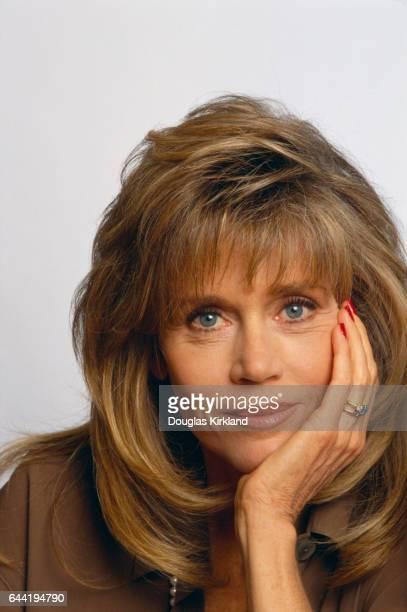 Jane Fonda Holding Head in Hand