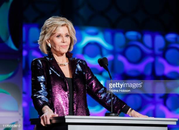 Jane Fonda hosts Homeboy Industries 2019 Lo Máximo Awards Dinner at JW Marriott Los Angeles at LA LIVE on March 30 2019 in Los Angeles California
