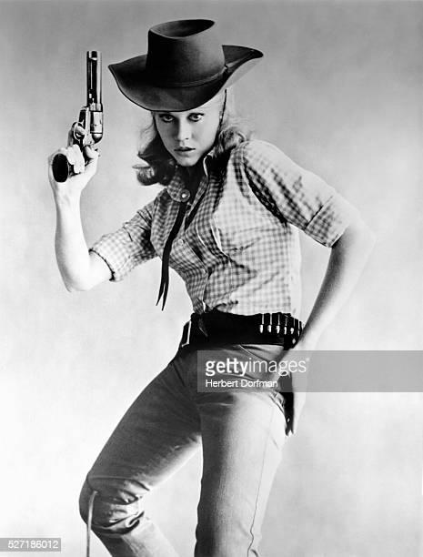 Jane Fonda in publicity still for the movie 'Cat Ballou'