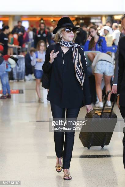 Jane Fonda is seen at LAX on August 30 2017 in Los Angeles California