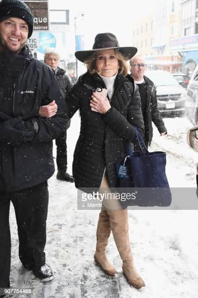 Jane Fonda is seen at the 2018 Sundance Film Festival wearing SOREL on January 20 2018 in Park City Utah