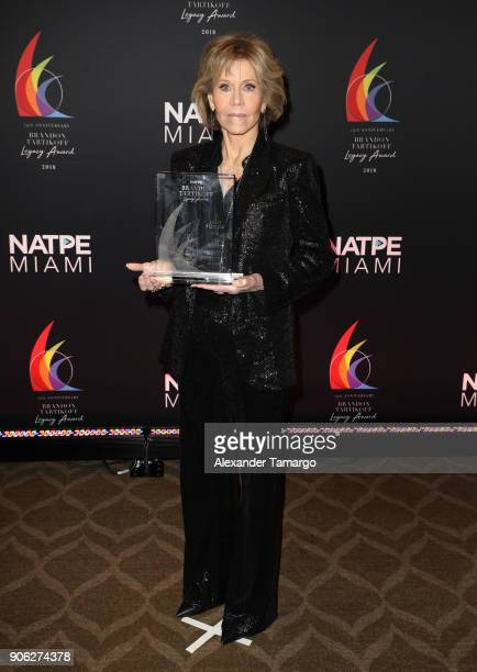 Jane Fonda is seen at the Brandon Tartikoff Legacy Awards at NATPE 2018 at the Fontainebleau Hotel on January 17 2018 in Miami Beach Florida