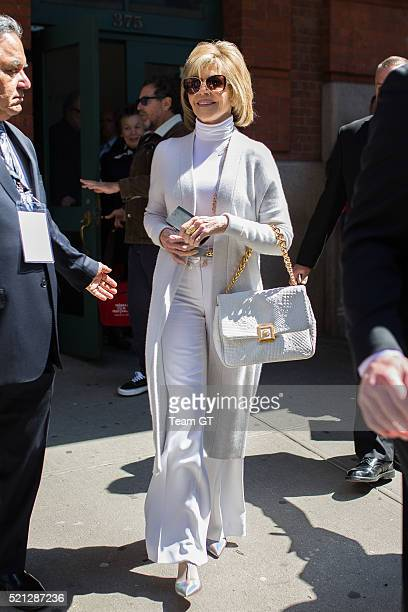 Jane Fonda is seen in Tribeca on April 14 2016 in New York City