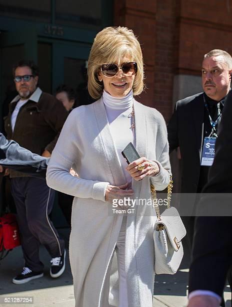 Jane Fonda is seen in Tribeca on April 14 2016 in New York City