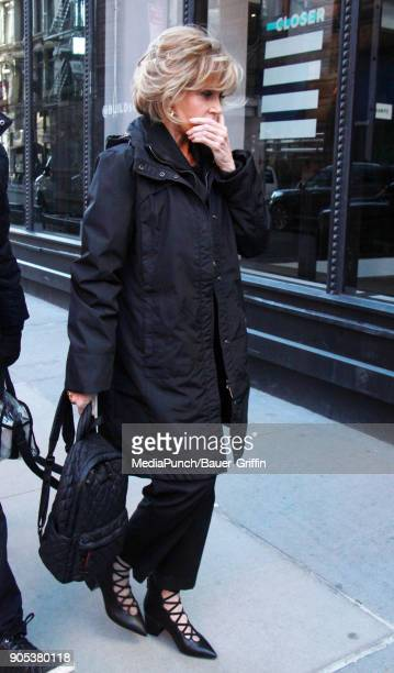 Jane Fonda is seen on January 15 2018 in New York City