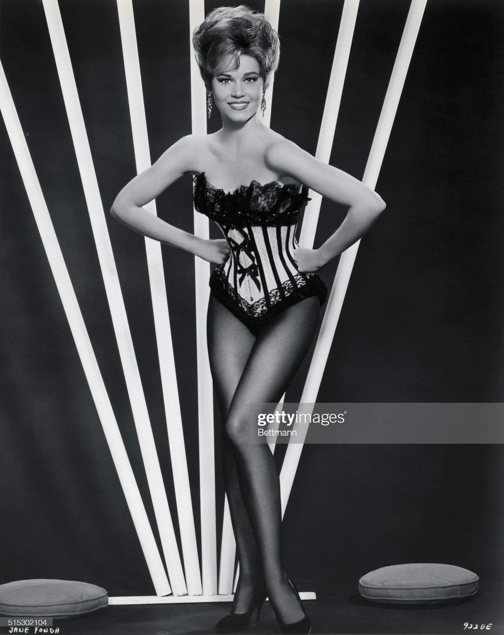Jane Fonda in Pose/Lingerie Corset : News Photo