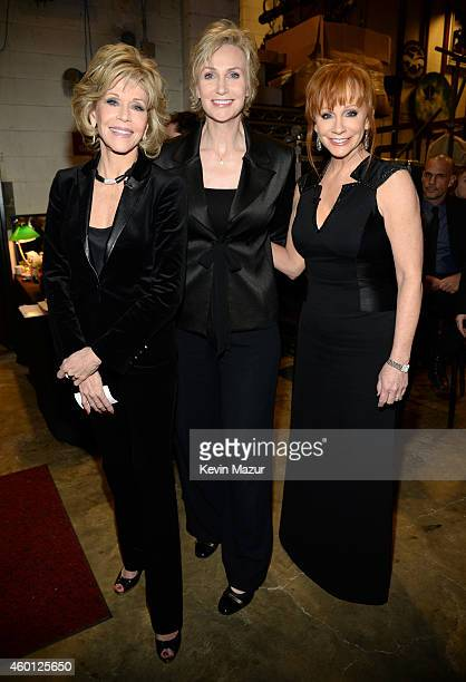 Jane Fonda Jane Lynch and Reba McEntire attend the 37th Annual Kennedy Center Honors at The John F Kennedy Center for Performing Arts on December 7...