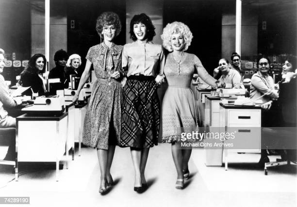 Jane Fonda Lily Tomlin and Dolly Parton act in a scene from the movie 9 to 5 which was released on December 19 1980
