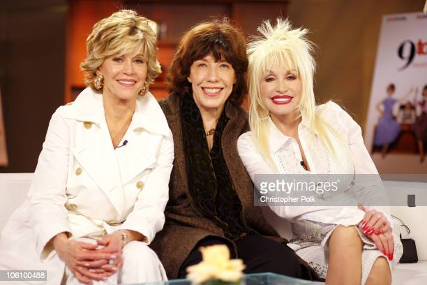Jane Fonda Lily Tomlin and Dolly Parton during 9 to 5 25th Anniversary Special Edition DVD Launch Party March 30 2006 at The Annex in Hollywood...
