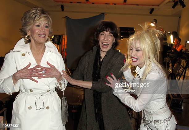 "Jane Fonda, Lily Tomlin and Dolly Parton during ""9 to 5"" 25th Anniversary Special Edition DVD Launch Party - March 30, 2006 at The Annex in..."