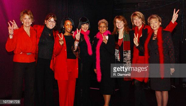 Jane Fonda Margot Kidder Jean Douglas Eve Ensler Atlanta Mayor Shirley Franklin Stephanie Blank Laura Turner Seydel and Pat Mitchell