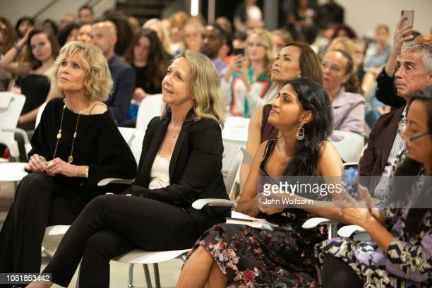 Jane Fonda Monica Horan Saru Jayaraman and Grace Kahng attend benefit in support of workers' rights The Riveter cohosts a special event with InStyle...