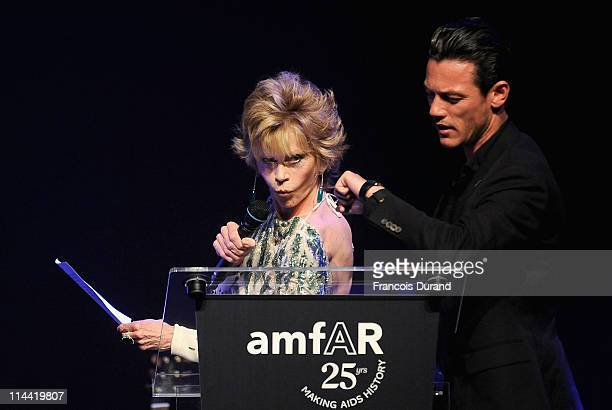 Jane Fonda onstage at amfAR's Cinema Against AIDS Gala during the 64th Annual Cannes Film Festival at Hotel Du Cap on May 19, 2011 in Antibes, France.