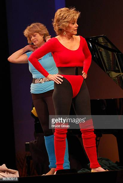 Jane Fonda performs her Jane Fonda's Workout at The 2009 Broadway Cares Equity Fights AIDS Easter Bonnet Competition on Broadway at The Minskoff...