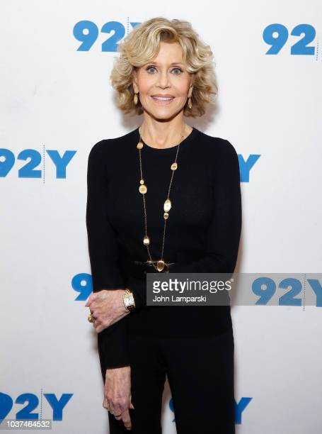Jane Fonda poses at a conversation with Susan Lacy at the 92nd Street Y on September 21 2018 in New York City